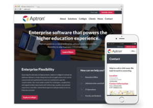 Springboard wins silver Jasper Award for developing Aptron's responsive website