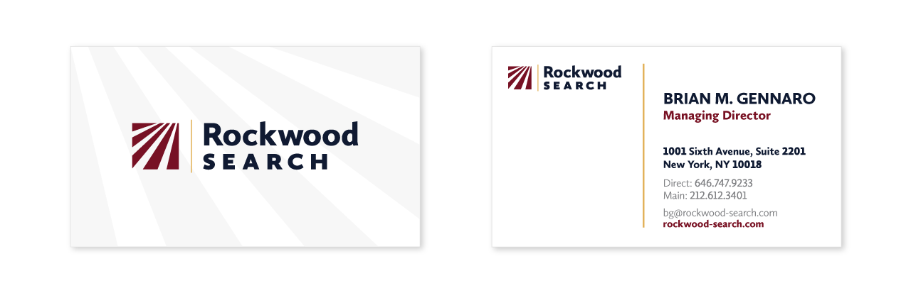 Rockwood Search business card design
