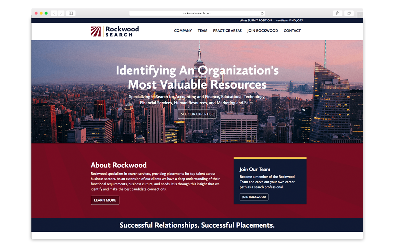 Rockwood Search website design