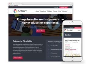 Springboard wins silver Jasper Award for developing Aptron's responsive website